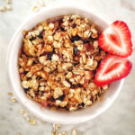 Vegan Personal Strawberry Rhubarb Crumble