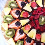 Vegan Chocolate Fruit Pizza
