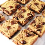 Vegan Chocolate Chip Cookie Gooey Bars