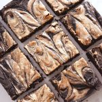 Vegan Almond Butter Swirl Brownies