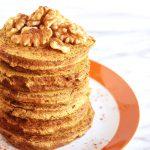 Vegan Banana Pumpkin Spice Pancakes