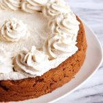 Vegan Pumpkin Cake with Cream Cheese Frosting