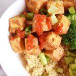 Vegan Crispy Garlic Tofu