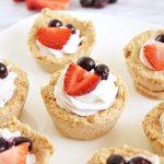 Vegan No Bake Berry Cookie Cups