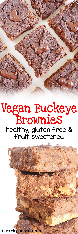Vegan Buckeye Brownies