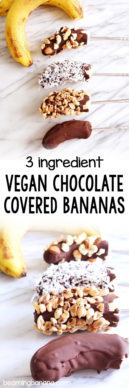 Vegan Chocolate Covered Bananas