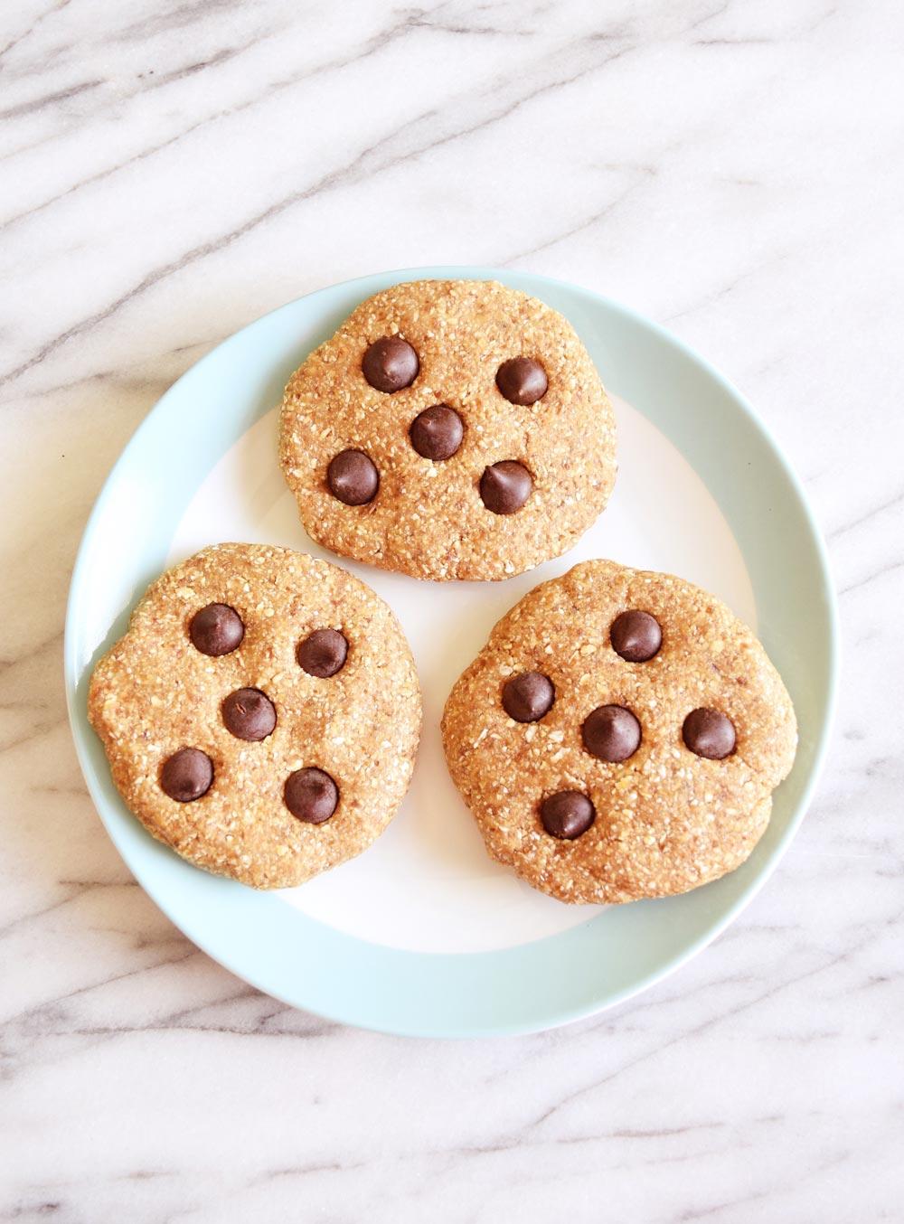 Vegan No Bake Chocolate Chip Cookies