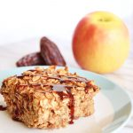 Vegan Caramel Apple Baked Oatmeal