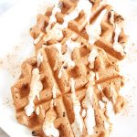 Vegan Cinnamon Bun Waffles