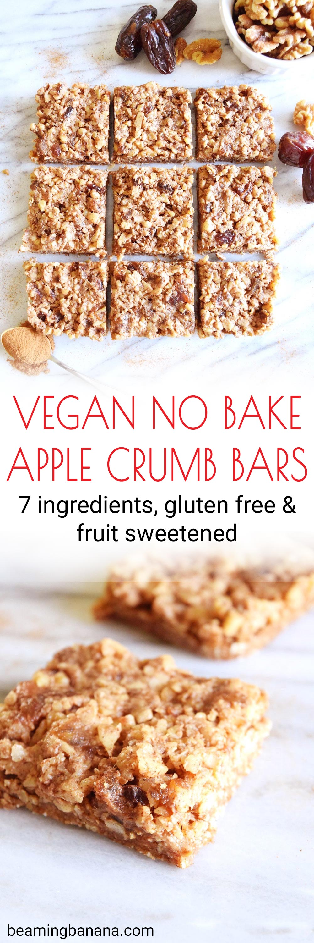 Vegan No Bake Apple Crumb Bars