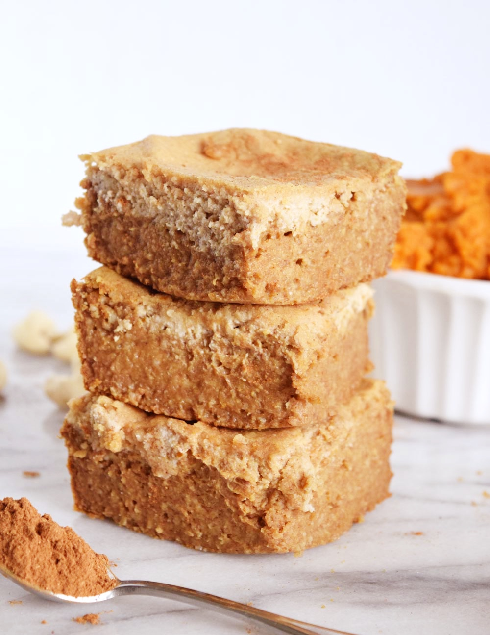 Vegan Pumpkin Spice Cheesecake Gooey Bars