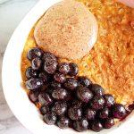 Vegan Pumpkin Spice Oatmeal Bowl